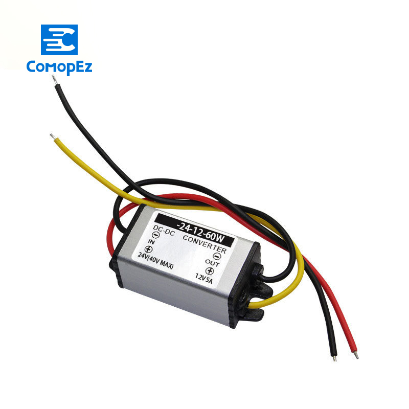 24V to 12V 5A 60W Voltage DC DC Converter IP68 Electrical Step down Buck Module Power Supply for Water Pump Photovoltaic panel in Inverters Converters from Home Improvement