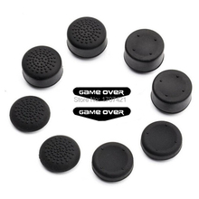 PS4 Game Accessories Protective Silicone Thumb Stick Grip Caps for PS4/ Xbox 360/ PS3 W/ Free Led Sticker Bar for Playstation 4