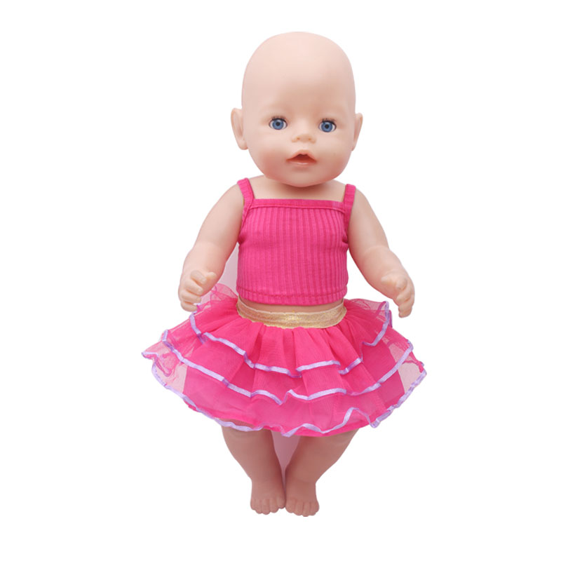 The new 2016doll clothes Wear fit 43cm Baby Born zapf Children best Birthday Gift(only sell clothes)f317