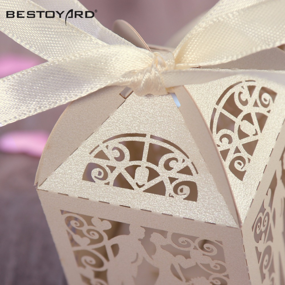 Couple Design Luxury Lase Cut Wedding Sweets Candy Gift Favour Boxes ...