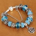 HOMOD Women Bracelet Silver Plated Crystal Charm Bracelets&Bangles for Women Fit Brand Bracelet Jewelry Mother's Day Gift