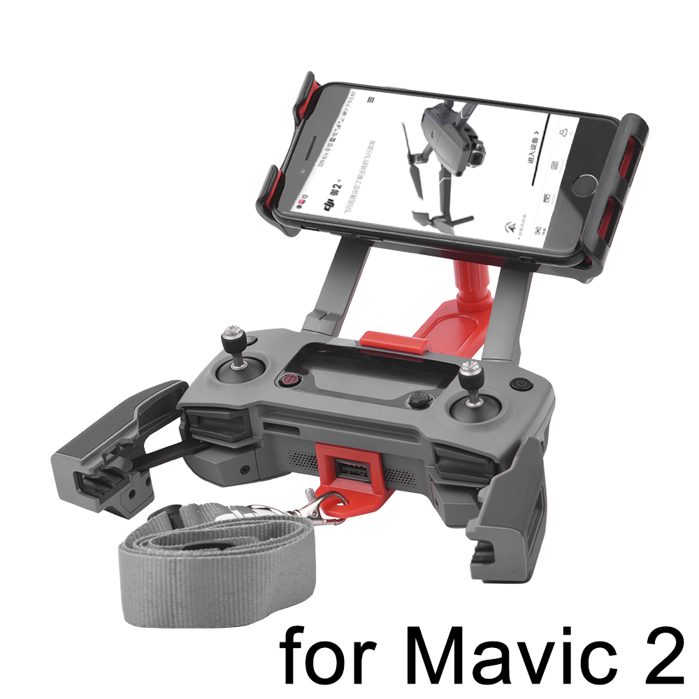 Remote Control Bracket for DJI Mavic 2 Pro Zoom Drone 360 Degree Rotated Front View Support Holder for Phone Tablet Mount Clip