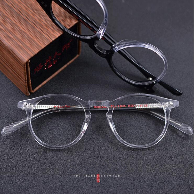 Vintage Oval Round Handmade Eyeglass Frames Men Women Full Rim Rx able myopia Glasses Spectacles Top Quality Made In Japan image