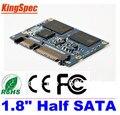 "Kingspec 1.8 ""polegadas metade sata iii sata ii módulo mlc 128 gb 4-channel para hpme hd player, tablet pc, UMPC, ETC Unidades de Disco Rígido HDD Disco"