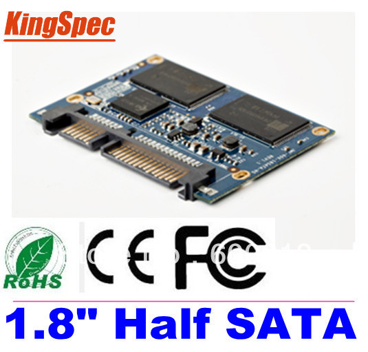 "Kingspec 1.8 ""polegadas metade sata iii sata ii módulo mlc 128 gb 4-channel para hpme hd player, tablet pc, UMPC, ETC Unidades de Disco Rígido HDD Disco"