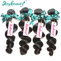 Peruvian Loose Wave 4 Bundles100% Peruvian Human Hair Weaving Loose Wave Unprocessed Grade 6A Peruvian Remy Hair Extensions