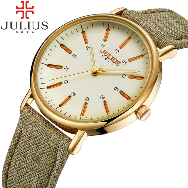 Top Brand Julius Women Watches Luxury Gold Watch Leather Fashion Casual Quartz-Watch Female Clock Relojes Mujer Montre Femme