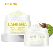 Lanbena Peptide Anti Wrinkle Facial Cream+snail Cream Aging Skin Care Whitening Lifting Firming Acne Treatment Day