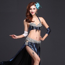 Elegant Oriental Bellydance Dresses 3PCS Bra+Belt+Skirt Professional Stage Performance Belly Dance Costumes Women Dance Wear