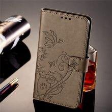 Case For Samsung Galaxy A3 A5 2016 j3 j5 2017 2015 S6 Edge S5 Mini Plain Business Card Slot Phone Cover Flower Butterfly P03E