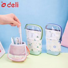 Deli creative quality pencil big largh space pencil case for school kids office stationery supply kawaii