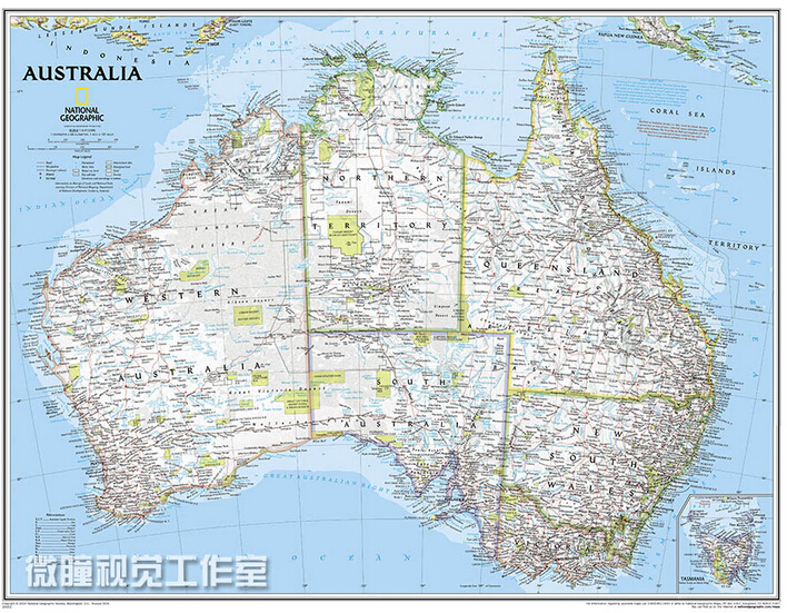 Aliexpress Buy 2015 travel map Australia Map English wall – Travel Maps Australia