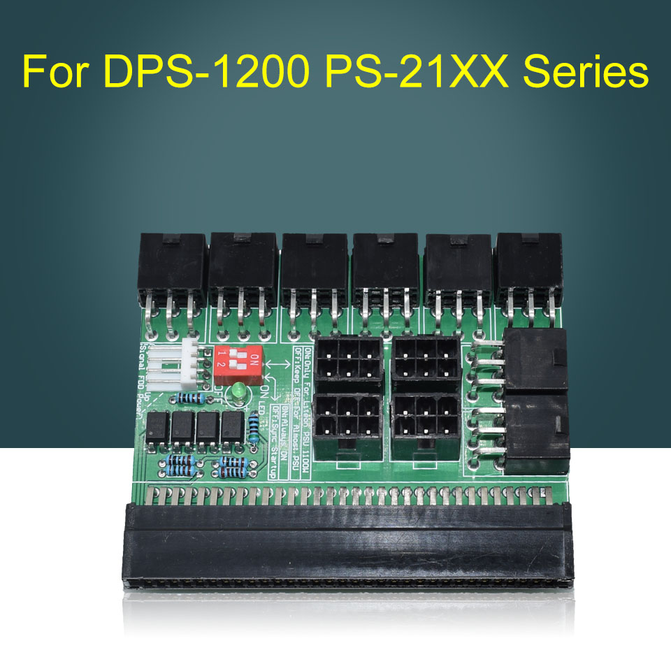 For DPS-1200 FB(1 A) /DPS-1200 QB /PS-2751-5Q PS-21xx Series 1100W 6pin 12 Ports Board 51ASIC V1.5 Support Synchronous Start