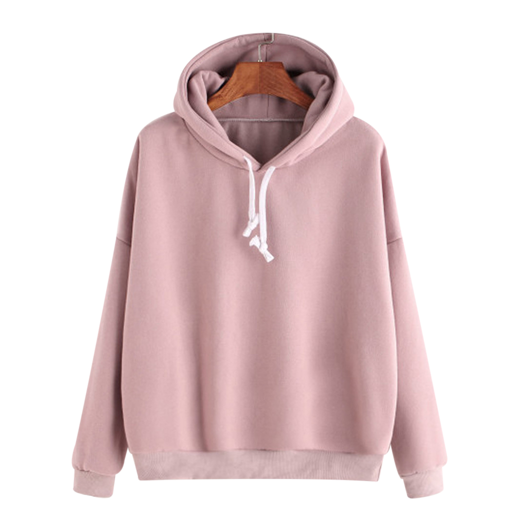 2018 Winter Casual Fleece Women Hoodies Sweatshirts