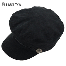 Military Cap Hat Female Winter Hats For Women Ladies Army Militar Corduroy Visor Black Sailor Bone for Girl