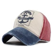 Sombreros con Cierre trasero estilo hip hop para hombre y mujer, gorras de béisbol de algodón puro con ancla de Barco Pirata