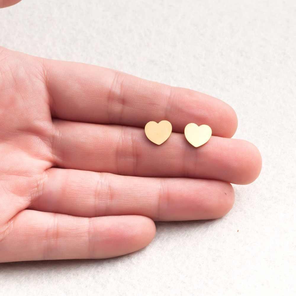 Женские минималистичные серьги золотые и серебряные из нержавеющей стали милые животные звезды кошка серьги девушки ювелирные изделия аксессуары Подарки