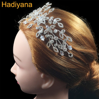 Hadiyana Handmade Soft Copper Wire And Claw Set CZ Combined Production Crown Wedding Jewelry Headdress Hairband Crowns BC4501