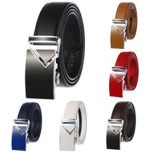 New Genuine Leather Belts for Men Real Cow Leather Blue Men Automatic Buckle Belt Luxury Brand Designer Jeans Belt for Man 2019 dubulle new lengthen110cm 160cmgenuine cow leather automatic belt gift box black belt for men luxury buckle belts box set db2087