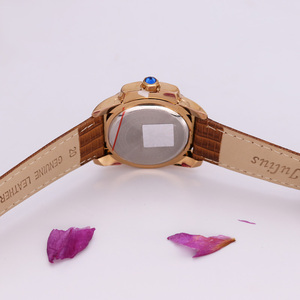 Image 4 - למעלה יוליוס גברת נשים של 5 צבעים אוטומטי תאריך שעון יד אלגנטי מעטפת רטרו אופנה שעות צמיד עור ילדה יום הולדת מתנה
