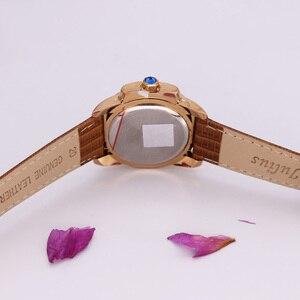 Image 4 - Top Julius Dame frauen 5 Farben Auto Datum Armbanduhr Elegante Shell Retro Mode Stunden Armband Leder Mädchen Geburtstag geschenk
