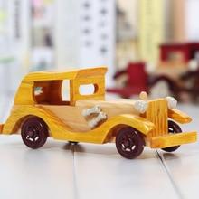 $ Number pulgadas de coches clásicos retro de madera modelo de coche regalos artesanías casa adornos regalo de la decoración de madera maciza de Lujo auto car model shop