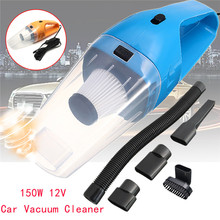 12V 150W Car Vacuum Cleaner Auto Vacuum Cleaner 6 in 1 Handheld Vacuums with 5m Power Cord Dry & Wet Strong Suction