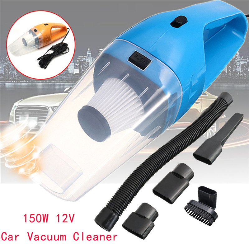12V 120W Car Vacuum Cleaner Auto Vacuum Cleaner 6 in 1 Handheld Vacuums with 5m Power Cord Dry & Wet Strong Suction