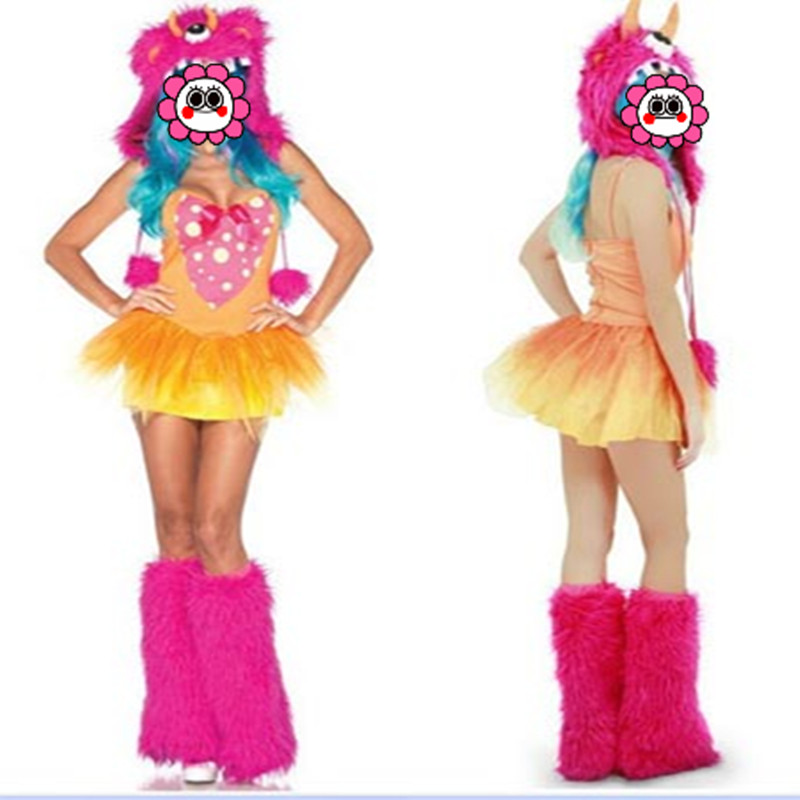 Sexy New Halloween Woman's Sexy Devil Cosplay Costumes Animal Costume Role Play Masquerade Monster Pink Costumes Dress