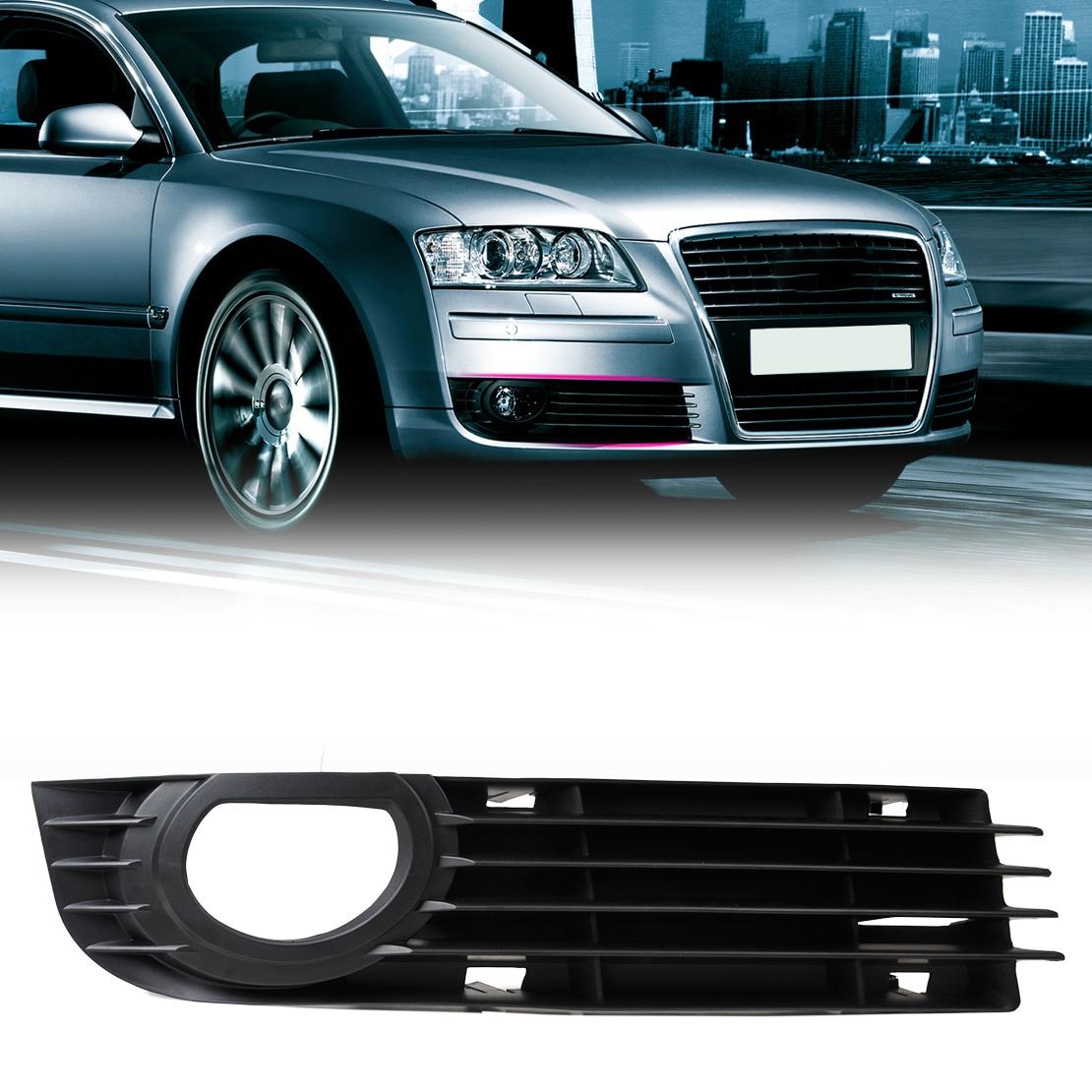 DWCX 4E0807682AB Grille Front Right Insert Bumper Fog Light Grille Protect Mesh for Audi A8 S8 QUATTRO D3 2006 2007 2008 s line sline front grille emblem badge chromed plastic abs front grille mount for audi a1 a3 a4 a4l a5 a6l s3 s6 q5 q7 label