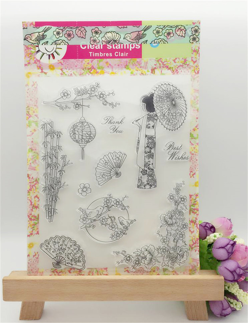 Transparent Stamp AboutJAPANESE GIRL  Clear Stamp For DIY Scrapbooking Photo Album christmas gift and wedding gift CL-022 about loving heart design transparent clear silicone stamp for diy scrapbooking photo album clear stamp christmas gift ll 278