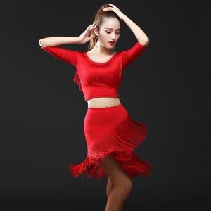 efed196a6bf8 Dance Queen Latin Dance Dress Skirt Women Ballroom Dance
