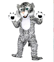 2017 Nieuwe Zwart-wit Tijger Mascotte Kostuums Voor Volwassenen Kerst Halloween Outfit Fancy Dress Pak Gratis Verzending