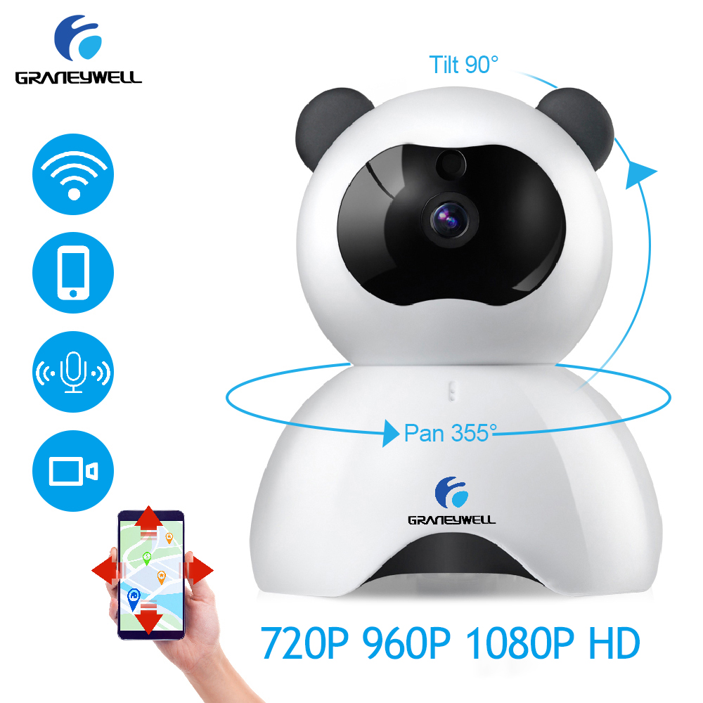 GRANEYWELL 720P 960P 1080P Wireless IP Camera Baby Monitor Detection Night Vision Videcam Security Surveillance Mini
