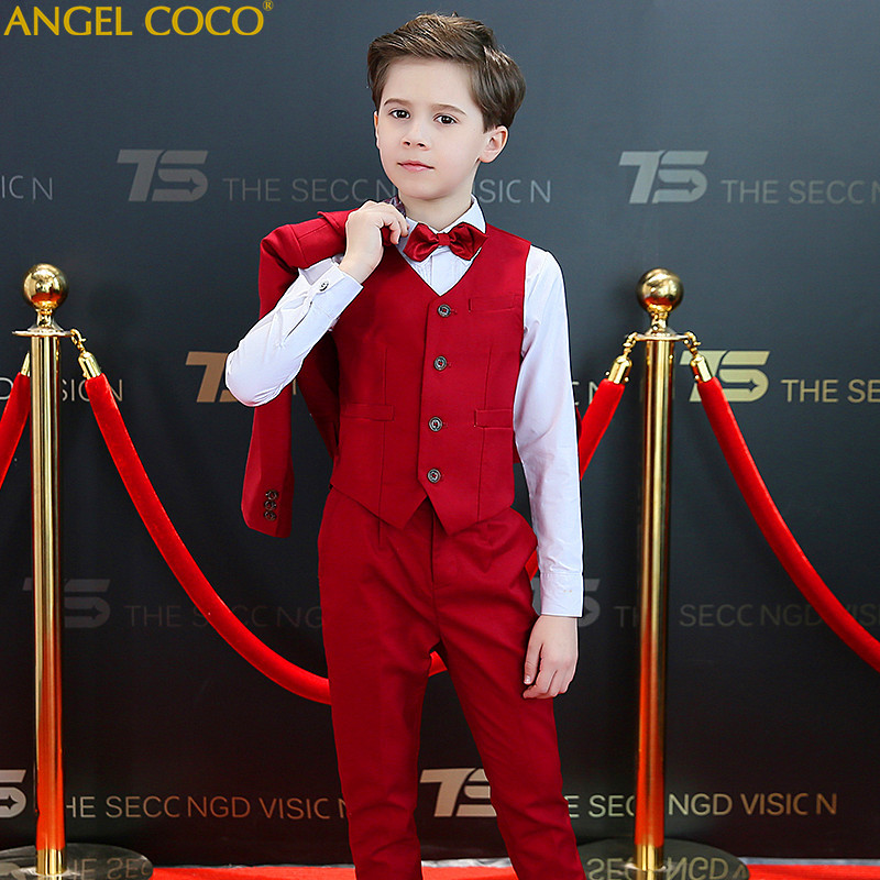 Suit For Boys Suits Summer Children'S Boys Prom Suits Clothing Boys Suits For Weddings Boys Clothing Blazer Child Tuxedo tian qiong men suit 2018 slim fit male printed suits stylish mens suits wedding groom designer prom wear brand clothing qt346