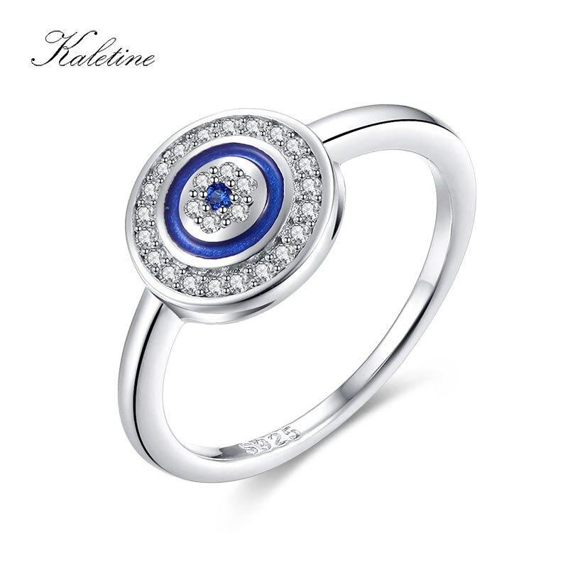 7037b530b32a Detalle Comentarios Preguntas sobre KALETINE Original de Plata de Ley 925 de  la suerte de piedra azul de mal de ojo dedo anillos para las mujeres de  piedra ...