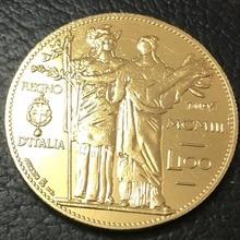1903 Италия 100 Lire-Vittorio Emanuele III Золотая копия монеты