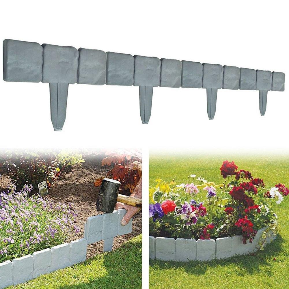 10 Stücke Hof Zaun Diy Einfach Sauber Anti Korrosion Garten Einfassung Rasen Trellis-in Palisade Einfügen Dekorative Stein Wirkung Fabriken Und Minen