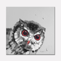 Owl Oil painting On Canvas Wall Pictures Paintings For Living Room Wall Art Canvas plattle knife modern abstract hand painted