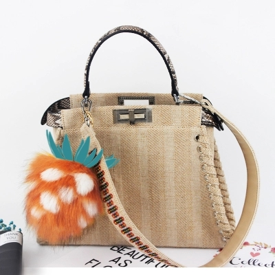 Colorful Pompon Summer Style Handbags Bohemian Boho Indian Straw Bag Famous Designer Brands High Quality Thai Woven Beach In Top Handle Bags From