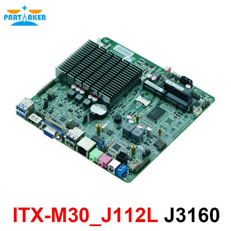 X86 Không Quạt Mini Itx Bo Mạch Chủ với Cổng Ethernet OEM ODM Intel Celeron J3160 1.6 ghz Bộ Xử Lý Quad Core