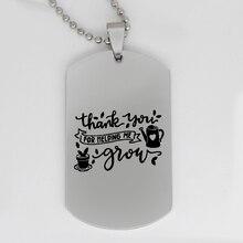 044a688bc86 Ufine bijoux maman papa cadeau pendentif armée carte merci de m aider à  grandir en acier inoxydable collier personnalisé N4314