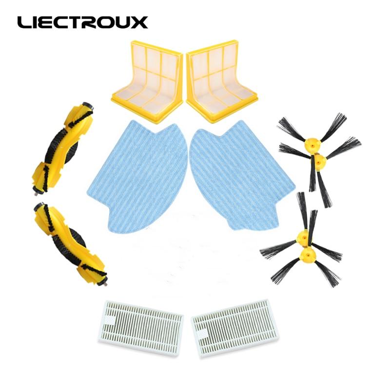 (Para B6009) Robot Vacuum Cleaner LIECTROUX parte, escova Do Rolo 2 pcs, Escova Lateral 4 pcs, filtro HEPA 2 pcs, Filtro Primário 2 pcs, mop 2 pcs
