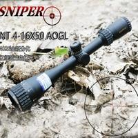 Sniper NT 4 16X50 AOGL Full Size Glass Reticle Riflescopes Optics Optical Sight for Hunting RGB Illuminated Scopes