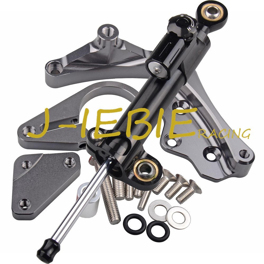 CNC Steering Damper Stabilizer and Titanium Bracket Mounting For Honda CBR650F CBR650 CBR 650 F 2014-2016 2015 стоимость