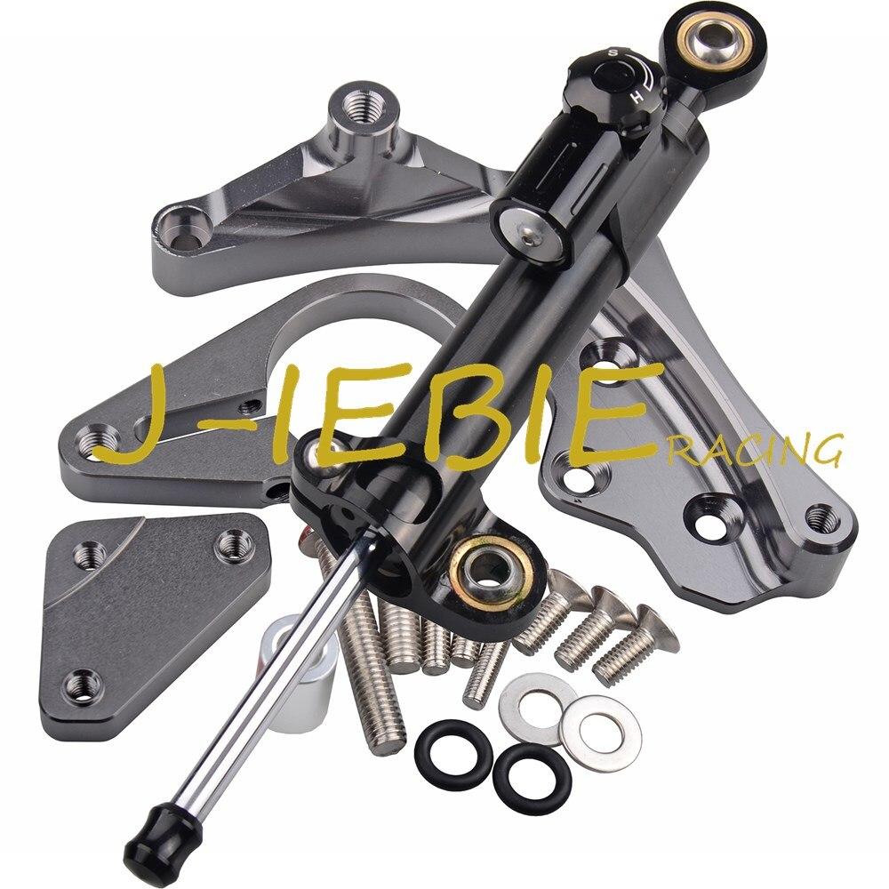 Stabilisateur d'amortisseur de direction CNC et support en titane pour Honda CBR650F CBR650 CBR 650 F 2014-2016 2015