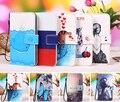 "Multi cores de impressão dos desenhos animados virar pu leather wallet phone case para wileyfox swift 2 5 ""mobile phone case capa + rastreamento"