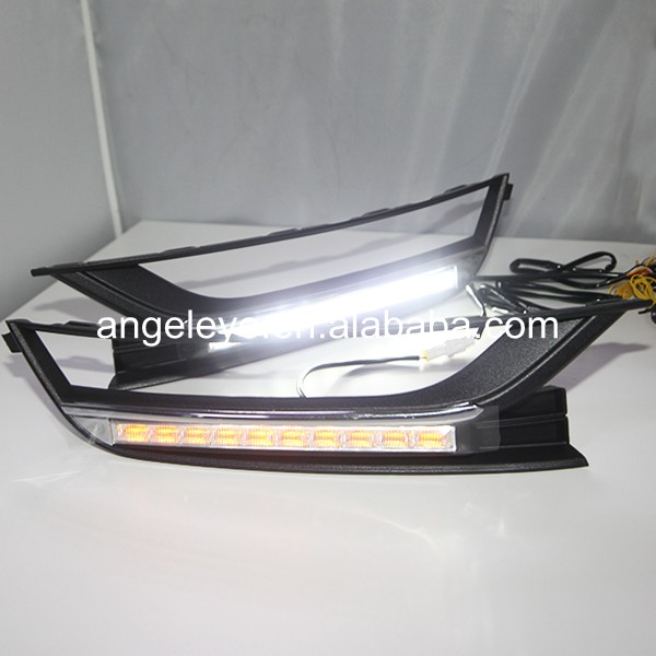 2011-2013 Year Passat B7 Ten LED Daytime Running Light with Turn lights 2009 2011 year golf 6 led daytime running light