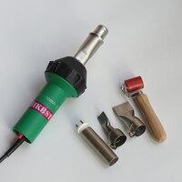 Hkbst горячего воздуха сварочный пистолет пластиковые сварщика для pp, pvc, pe, ppr, виниловый пол, геомембраны, брезент, баннеры с 5 шт. аксессуары
