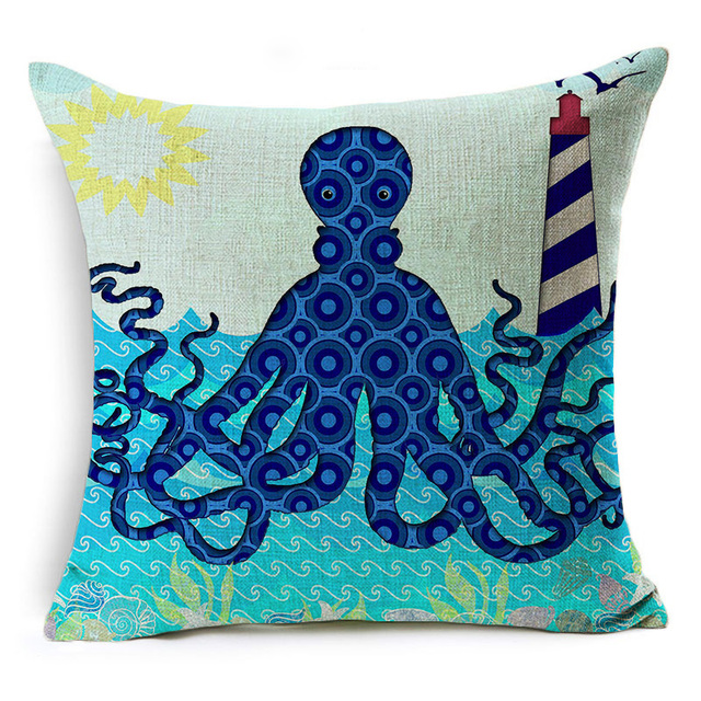 Deep Blue Ocean Pillows 1